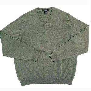 Brooks Brothers Sweater 100% Pure Cashmere V-Neck